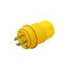 L1630PW - 30A 480V 3 Phase Yellow Ind Grade Watertite Plug - Cooper Wiring Devices