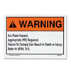 LB94913 - 3.5X5 Arc Flash Sign - Thomas&Betts-Abb Ins Prod
