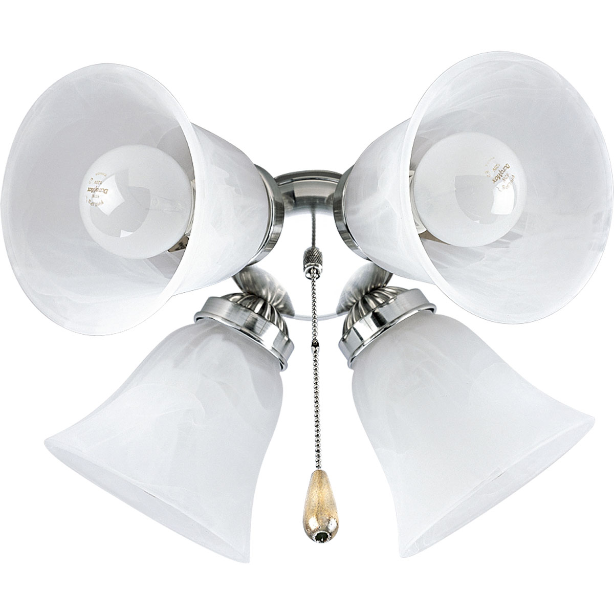 P261009 P2610 09 Progress Brand Four Light Kit With White Washed Alabaster Style Glass Shades Beautiful In Design Brushed Nickel Finish Corresponds A