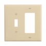 PJ126V - Wallplate 2G Toggle/Deco Poly Mid Iv - Eaton Wiring Devices