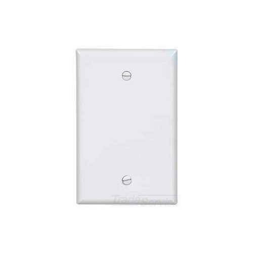 PJ13W - Wallplate 1G Blank Box Mount Poly Mid WH - Eaton Wiring Devices