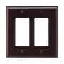 PJ262B - Wallplate 2G Decorator Poly Mid BR - Eaton Wiring Devices