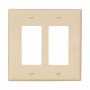 PJ262V - Wallplate 2G Decorator Poly Mid Iv - Eaton Wiring Devices