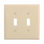 PJ2V - Wallplate 2G Toggle Poly Mid Iv - Eaton Wiring Devices