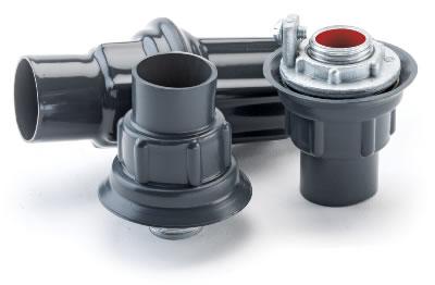 "PLASTIBOND PRST3 1/"" Knockout Hub PVC Coated Conduit Fitting"