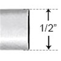 "PVC12 - 1/2"" SCH40 10' Length PVC Conduit - PVC"