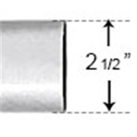"PVC212 - 2-1/2"" SCH40 10' Length PVC Conduit - PVC"