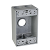 "SB575S - 1G WP Gray Box - Five 3/4"" Holes - 17 Cu In - Hubbell--Raco"