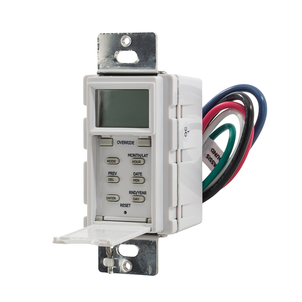 Timer In-Wall Digital White NSI Industries SS403