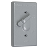 TC100S - 1G WP Switch Gray Cover W/ Actuating Lever - Taymac