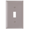 TP1GRY - 1G Switch Plate Gray - Pass & Seymour/Legrand