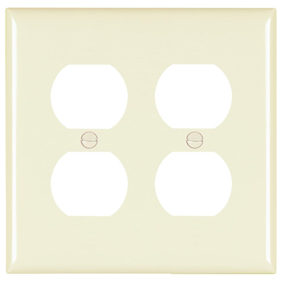 20 P/&S Trademaster Light Almond 2G Toggle Switch UNBREAKABLE Wallplates TP2-LA