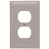 TP8GRY - 1G Dup Recp Plate Gray - Pass & Seymour/Legrand