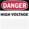 WHF0076 - Danger High Voltage - Thomas&Betts-Abb Ins Prod