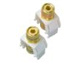 WP3457WH - Audio Binding Posts L+R WH (M20) - Pass & Seymour/Legrand