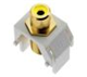 WP3465WH - Yel Rca to WH F-Connector - Pass & Seymour/Legrand