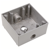 "WPB232 - 2G WP Gray Box - Three 1/2"" Holes - 30 Cu In - Pass & Seymour/Legrand"