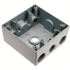 "WPB242 - 2G WP Gray Box - Four 1/2"" Holes - 30 Cu In - Pass & Seymour/Legrand"