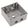 "WPB252 - 2G WP Gray Box - Five 1/2"" Holes - 30 Cu In - Pass & Seymour/Legrand"