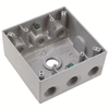 "WPB287 - 2G WP Gray Box - Seven 1/2"" Holes - 30 Cu In - Pass & Seymour/Legrand"