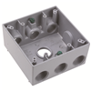 "WPB387 - 2G WP Gray Box - Seven 3/4"" Holes - 30 Cu In - Pass & Seymour/Legrand"