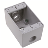 "WPBD33 - 1G WP Deep Gray Box - Three 3/4"" Holes - 23 Cu In - Pass & Seymour/Legrand"