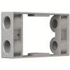 "WPEX4 - 1G WP Gray Box Exten. Ring - (4) 1/2"" Holes 9.5 Cu - Pass & Seymour/Legrand"