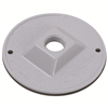 "WPRB11 - 4"" RND WP Gray Lamp Cover - One 1/2"" Hole - Pass & Seymour/Legrand"