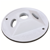 "WPRB13W - 4"" RND WP White Lamp Cover - Three 1/2"" Holes - Pass & Seymour/Legrand"