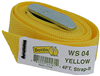 WS04 - 4' Nylon Web Straps - Yellow - L.H. Dottie CO.